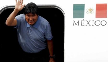 Evo Morales arribó a México el pasado 11 de noviembre, ras denunciar que su vida corría peligro.