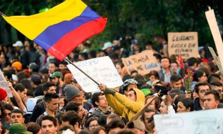 Paro nacional en Colombia.