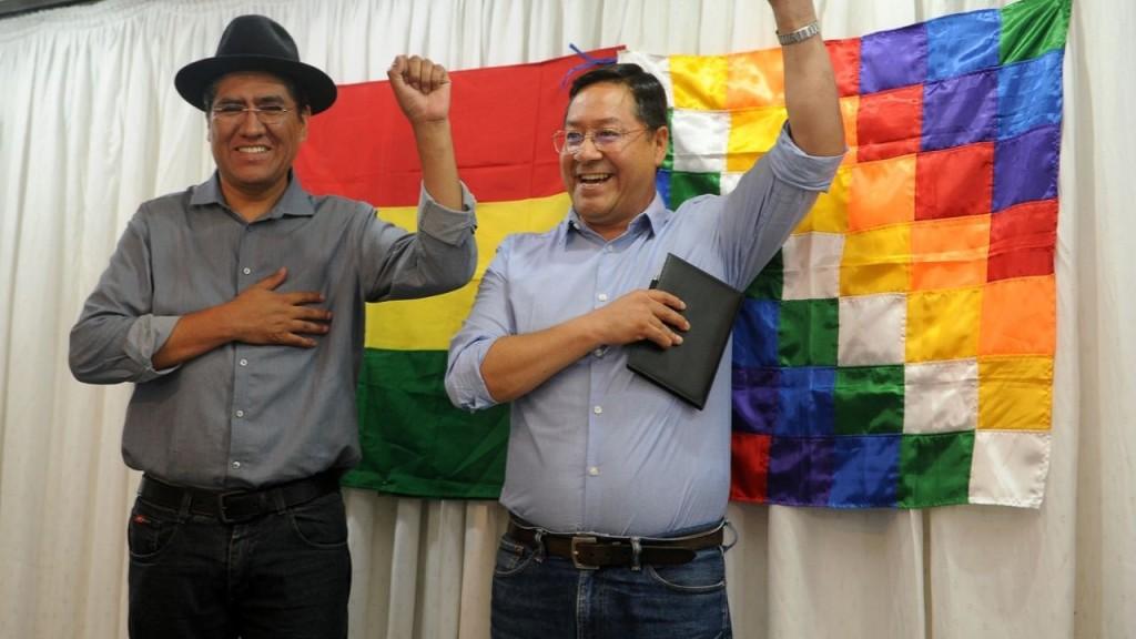 David Choquehuanca y Luis Arce Catacora. Ph. EFE